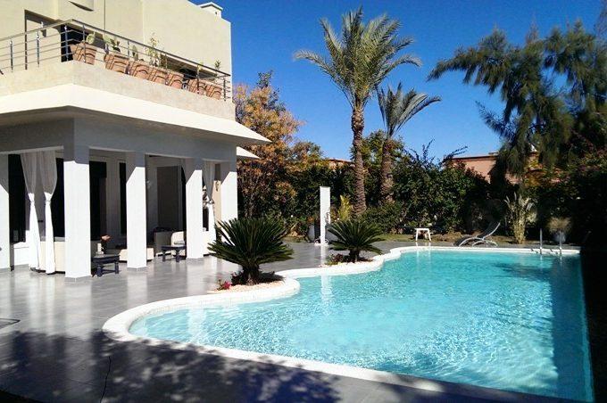 Villa style moderne et marocain à louer à Amelkis Marrakech